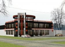 эскиз торгово-офисного центра