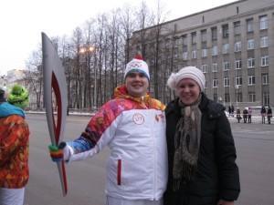 Николай Филинков, выпускник школы №23 тоже стал факелоносцем