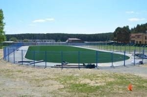 Новое футбольное поле у кадетской школы