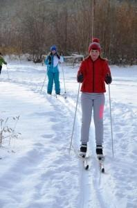 Школьницы Настя Ляхова и Аня Плюснина на тренировке