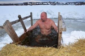 Первые купания в с. Черданцево