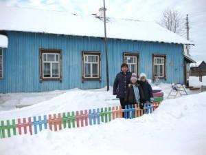 Новый забор для детского сада