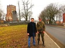Вячеслав Чернавских  и Николай Фляум в п. Ушаково