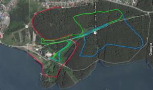 Схема лыжных трасс на Спартаке